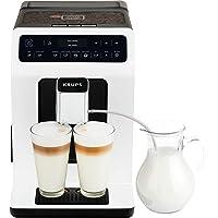 Krups Evidence Machine à café à grain Machine à café broyeur grain Cafetière expresso Cappuccino Espresso 15 boissons 2…