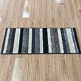 A-ZHP & Teppich Supermarkt Moderne geometrische gestreifte Teppiche verschlüsselt dicken Teppich Schlafzimmer Wohnzimmer Boden Teppich Bodenmatte für zu Hause (größe : 50cm*120cm)