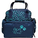 IFFOVERSEAS ZIPLOC Polyester Adjustable Strap Diaper Bag for Women (Blue)