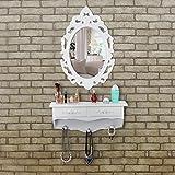 Songmics-Mini-Tocador-de-pared-rstico-con-1-espejo-ovalado-y-2-cajones-Mesa-de-maquillajes-Blanco-RDT16W
