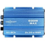 Mini amplificador coche de Auna 300 w. Azul
