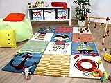 Savona Kids - Tapis pour enfant - monde de pirate coloré - 5 tailles disponibles