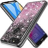 MASCHERI Cover per Huawei Honor 7C / Nova 2 Lite / Y7 Prime 2018, Glitter Brillantini Scintillante Cristallo Silicone Protettiva Telefono Custodia - Oro Rosa