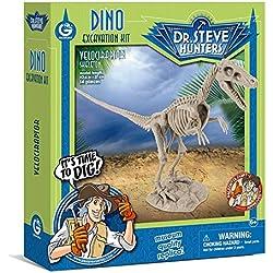 Geoworld Velociraptor skeleton, figura (DeQUBE Trading S.L. CL1664K)