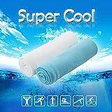 Ice Handtuch Die Super Cool, Super Saugfähig, schnell trocken Handtuch für Yoga, Running, Fitness, Klettern, Golf etc.., blau