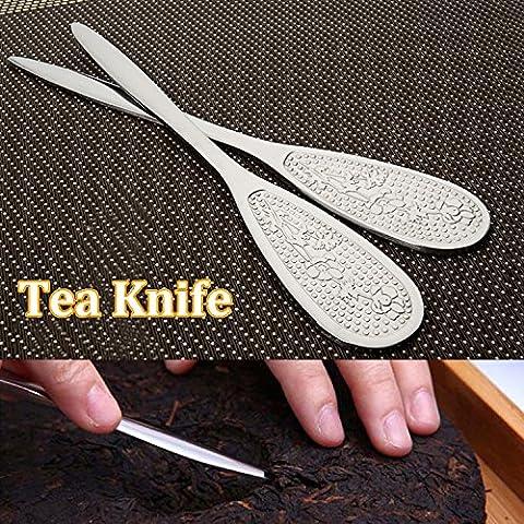 Bluelover Acero inoxidable Pu Er Tea cuchillo té Kongfu té torta ladrillo herramienta de palanca