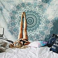 Tapiz regalo de Navidad, Mandala Elefante Colcha Tapiz Playa Boho Bohemio Indio , diseño psicodélico para colgar en la pared, tapiz hippie de 210 X 1 45cm