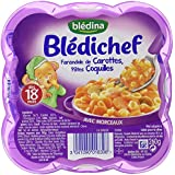 Blédina Blédichef Assiette Complets du Soir Farandole de Carottes/Pâtes Coquilles dès 18 Mois 260 g