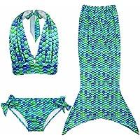 GenialES 3 Pezzi Ragazze Marmaids Sirena Costume da Bagno Swimsuit