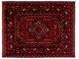 Lifetex.eu Teppich Buchara Khatun Afghanistan ca. 135 x 105 cm · Rot · handgeknüpft · Schurwolle · Klassisch · hochwertiger Teppich · LT16054