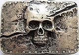 Gürtelschließe Gürtelschnalle - Skull - Totenkopf - massiv gearbeitet - für 3,8 bis 4 cm breite Bänder