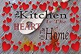 Die Küche ist das Herz des Home Wall Art Print auf Leinwand