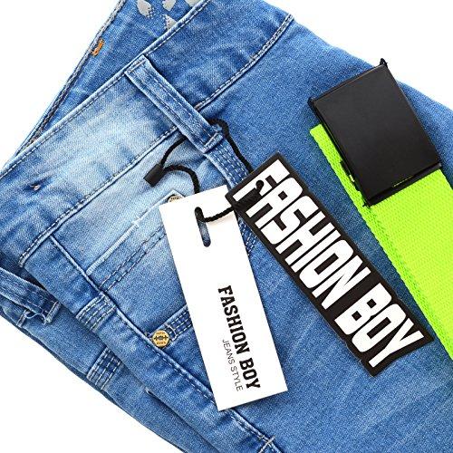 725ae5f019a5 Fashion Boy Jungen Jeans Kinder Hose Biker Riss Akzente Strech ...