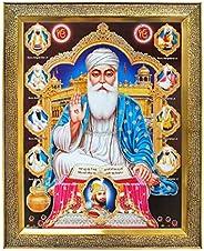KHANNA Guru Nanak dev ji and Guru Govind Singh ji with All Ten / 10 Sikh gurus Photo Frame for Wall Hanging/Gi
