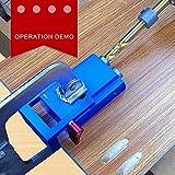 Alftek Mini tasca foro SISTEMA Jig Kit Legno Link 3passo trapano inclinato legno tassello Jig Tools Set
