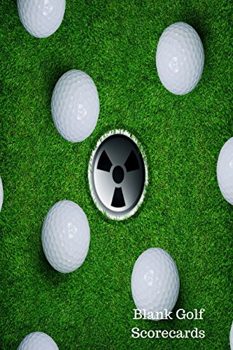 Blank Golf Scorecards: Golf Log por Journals For All