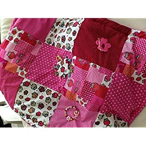 Erlebnisdecke Krabbeldecke Eule Rosa Pink Handmade by Sinchns Bastelzauber
