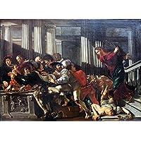 Caravaggio - Cecco del Christ Expulses Money Changers Anagoria -
