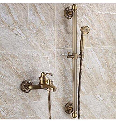 Preisvergleich Produktbild Winson Antike Blume Shedding voller Kupfer einfache Dusche Bad mit heißem und kaltem Badewanne Dusche Retro 3 Tippen
