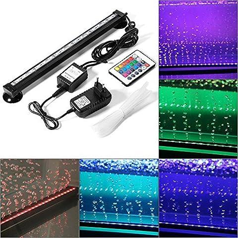 Lumières de Poissons Multicolores avec RGB 24 Touches de Contrôle à Distance, Bulle d