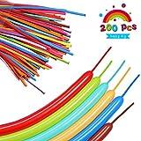 SMARCY 260 Modellierballons Luftballons Ballons Dekoration für Party Hochzeit Geburtstag 200 PCS