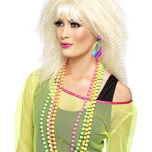 Smiffys, Damen Neon Tränen Ohrringe, One Size, Bunt, 21175 (80er Jahre Neon Kostüm Ideen)