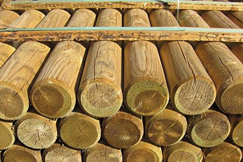 Gartenpirat Palisaden Ø 10 cm (60/90/120 cm) Holz imprägniert zur Beetumrandung