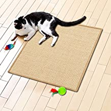 Floori® Sisal Kratzteppich | Naturfaser: nachhaltig und umweltfreundlich | Natur, 50x50cm