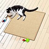 Floori® Sisal Kratzteppich | Naturfaser: nachhaltig und umweltfreundlich | Kratzmatte für die Krallenpflege Ihrer Katze | Natur, 50x50cm