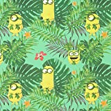Fabulous Fabrics Baumwolle Minions Dschungel 1 – grün