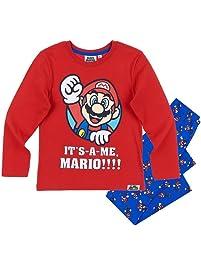 Nintendo Super Mario Bros Pijama Dos Piezas - para niño Rojo