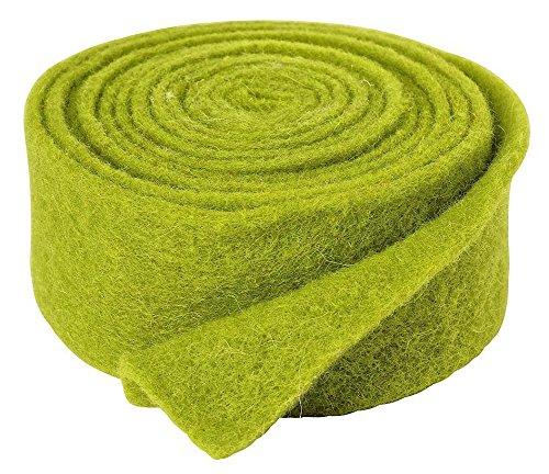 VBS Einfarbiges Filzband, ca. 5 x 250 cm grün (Filzband)