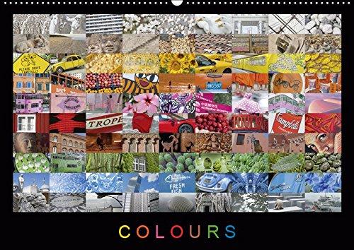 Colours (Wandkalender 2019 DIN A2 quer): Eine farbenfrohe Fotosammlung mit Impressionen aus aller Welt. Jeder Monat mit eigener Farbstimmung. (Monatskalender, 14 Seiten ) (CALVENDO Orte)