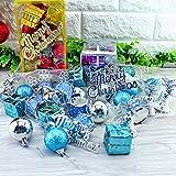 tofree Weihnachtsbaumschmuck Kugelglocken Ornament-Set Kugeln Party Hochzeit Hängende Ornament Weihnachten Dekoration für Zuhause blau blau