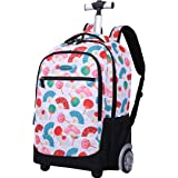 Rolling Backpack for Kids, Trolley Bags for Kids School Travel Laptop Books Multifunction Wheeled Backpack Luggage