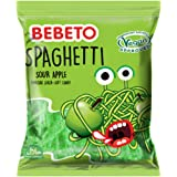 Bebeto Sour Apple Spaghetti Sweets - Delicious Vegan Sweets Made with Real Fruit Juice & Halal Certified