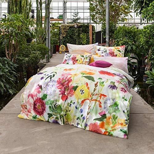 ESTELLA Mako-Satin Bettwäsche Garden Multicolor Kissenbezug einzeln 40x80 cm -