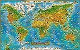 Yobooom Puzzle Erwachsene Holz Puzzle 1000 Teile Tiere der Weltkarte