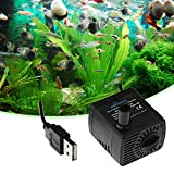 Swiftswan Brushless Tauchwasserpumpe für Aquarium, Aquarium, Brunnen, Teich, Kleine Stille, DC 5 V 120L / H 1 Watt Brushless Tauchpumpe