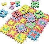 Gemini _ mall je 5x 5cm Puzzle-Matten aus EVA-Schaumstoff, mit Buchstaben und Zahlen, für Mathe, zum Zählen, Spielzeug zur geistigen Förderung von Kindern und Babys, zum Spielen und Lernen, 36Stück