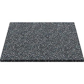 ID Mat 606010 Dalle Anti-Vibratoire Caoutchouc Noir 60 x 60 x 1 cm