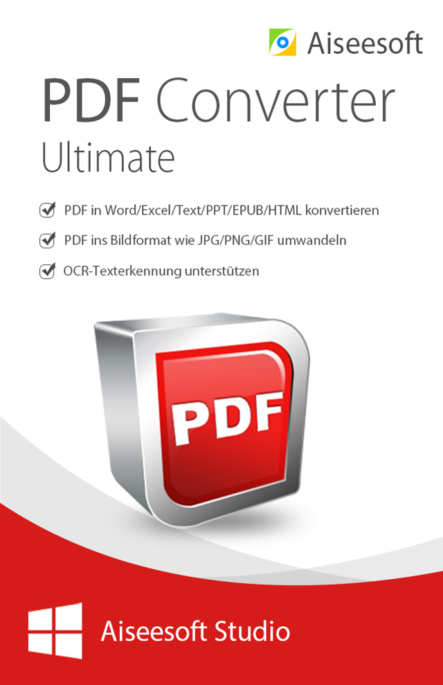 Aiseesoft PDF Converter Ultimate für PC - 2018 [Download]