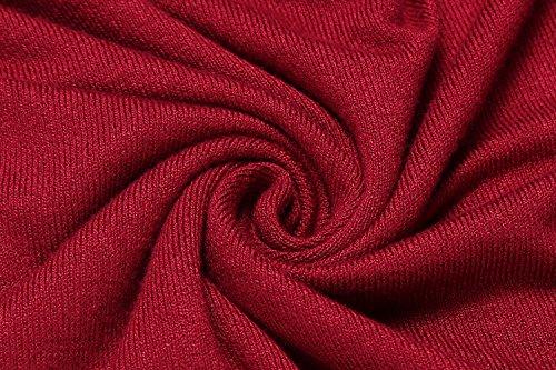 Unibelle Damen Pullover V-Ausschnitt Mit Schnürung Sweatshirt Pullover Bluse Langarmshirt / Pullover Herbst Und Winter Typ1-Rot