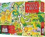 Puzzle und Buch: Im Zoo