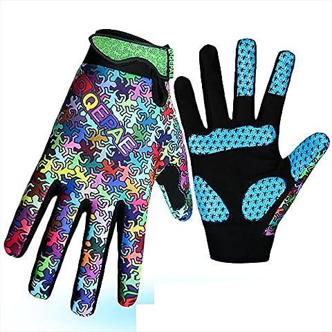 BANZHI Cycling Gloves Mountain Bike Road Racing Light Silicone Gel Pad Full Finger Riding Anti-slip , as figure ,