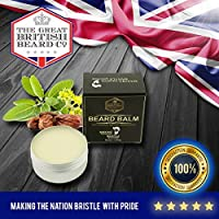 Beard Balm - MADE IN UK | 100% Premium Natural Leave-in Conditioner | Beard Wax for Men - Styling - Non Greasy - Deep Beard Conditioner | Natural Organic Oils and Butters