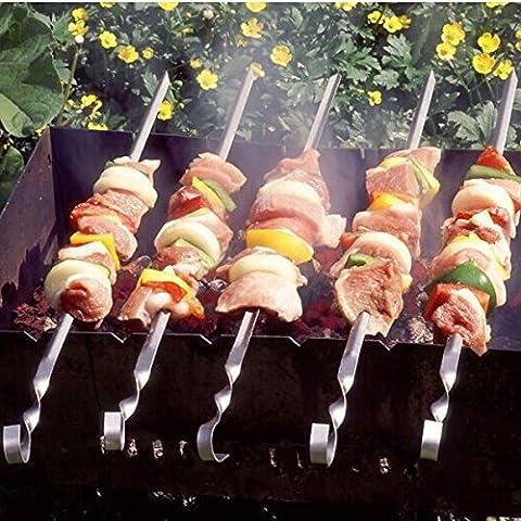 10pcs en acier inoxydable Barbecue grill Aiguilles pour barbecue Aiguille 33cm