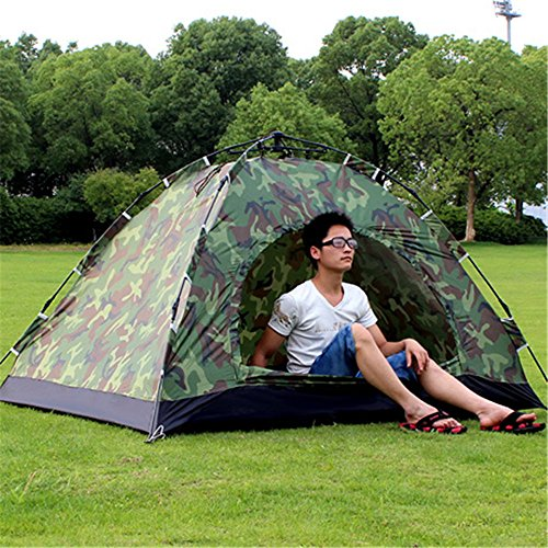 RFVBNM Zwei-Personen-Tarn Automatik Zelt Camping Campingplatz 1-2 Personen Einzel-super leichte Outdoor-Zelt-Paket 200 * 150 * 110cm
