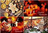 Weihnachtskarten-Set (100 St.) nostalgisch - ein günstiges Nostalgie-Weihnachtspostkarten-Set für Vielschreiber und Postcrossing