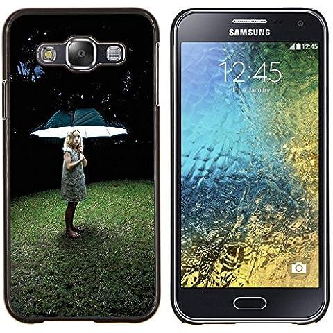 Caucho caso de Shell duro de la cubierta de accesorios de protección BY RAYDREAMMM - Samsung Galaxy E5 E500 - Muchacha ligera profundo hierba del verano
